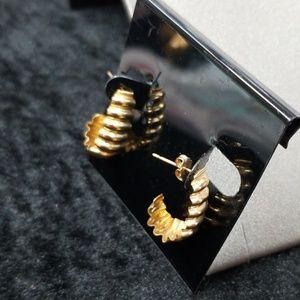 14k vintage gold earrings